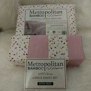 Metropolitan Bamboo King Size Confetti Sheet Set